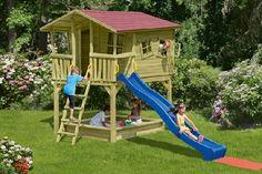 Gardenplaza - Fantasievolle Spielhäuser aus Holz – erst ansehen und dann kaufen - Abenteuerhaus trifft Villa Kunterbunt