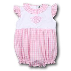 380eee7bbbd5 Pink Check Girls Bubble. Cecil And LouSmocked ClothingChildren ...