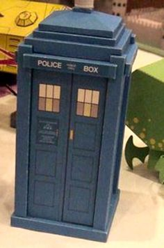 Mike Hungerford: TARDIS Models--creator of the Steampunk version (parts from that are supposed to be interchangeable).  This model might be taller/bigger than the other papercraft Tardis I have pinned--need to compare.  May want larger size for some placements or to send home.