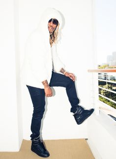 If his style isn't enough to entice you, check out his Balenciaga sneakers. http://www.thecoveteur.com/future-rapper/