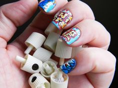 Toxic Vanity: Hip Hop Nails : 1# Wild Style Wild Style, My Style, Queer Fashion, Hip Hop Fashion, Graffiti Nails, Love N Hip Hop, Nail Arts, My Nails, Cool Designs