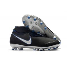 4bee03240a Nike Sock Trainers Football - Nike Phantom VSN Elite DF AG Pro Black  Metallic Silver Racer Blue - Cheap Laceless Football Boots - Artificial  Ground - Mens ...