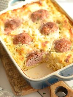 The idea for the meatballs baked with pasta in cream sauce . Diner Recipes, Cooking Recipes, Healthy Recipes, Meal Recipes, Tasty Indian Recipe, Indian Food Recipes, Food Porn, English Food, Curry Recipes