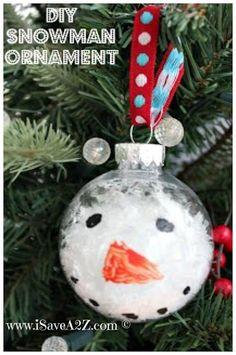 DIY Snowman Ornaments : DIY Snowman Ornament