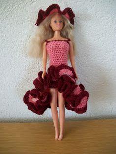 Varianten Flamingo jurk, haken, uitleg foto´s