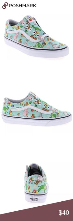Vans Toy Story Old Skool shoes. Toy Story shoes featuring Andy's toys Unisex shoes Women's size 5.5 Men's size 4 Limited edition (collectors item) Cross posted NIB Smoke free environment Vans Shoes Sneakers