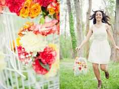 Jaula decorativa con flores Say Cute!