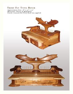 Custom Made Trout Fly Tying Bench