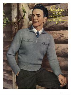 Google Image Result for http://cache2.allpostersimages.com/p/LRG/26/2663/T51UD00Z/posters/1940-s-man-s-knit-sweater.jpg
