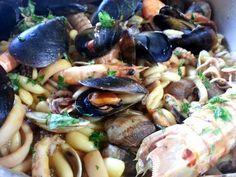 Pasta Cavatelli mar y tierra - Pasta mar y monte - Mar y montaña - Cavatelli mare e monti - Sea and mountain recipe