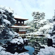 The silver temple of #Kyoto - Ginkakuji. So nice in the #snow. by snakku