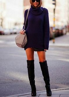 The boots, the sweter...love it all