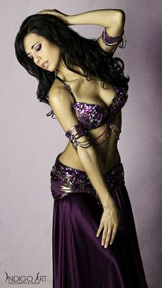 Ameera Paone in a purple belly dance costume Belly Dance Outfit, Belly Dance Costumes, Purple Love, Shades Of Purple, Bd Collection, Dance Oriental, Line Dance, Tribal Dance, Tribal Fusion
