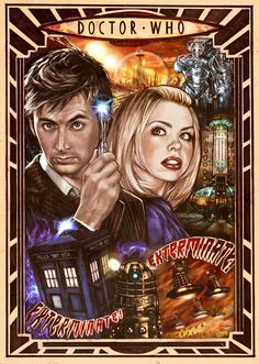 Doctor Who poster. Doctor and rose tyler Doctor Who Fan Art, Doctor Who Poster, Bad Wolf Doctor Who, Steven Moffat, First Doctor, 10th Doctor, Diy Doctor, Bbc America, Dr Who