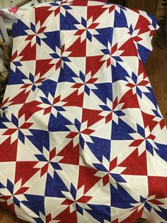 Quilt of Valor still in progress - *if* I ever decide to do Hunter's star by emalimonova