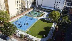 Facilities | YMCA SF    Boedekker Park in the Tenderloin  #Trust for Public Land  #WRNS Studio