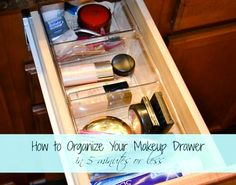 How to organize a makeup drawer - Ask Anna