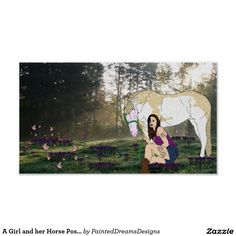 A Girl and her Horse Poster http://www.zazzle.com/a_girl_and_her_horse_poster-228407482942667353?rf=238588924226571373