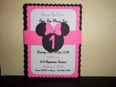 Minnie Mouse Birthday Invitation by mimskd on Etsy, $10.00