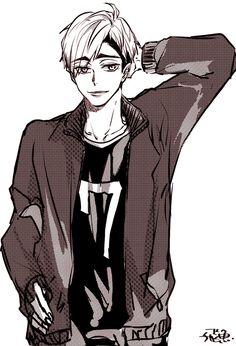Miya Atsumu Haikyuu Yaoi, Kuroo, Kagehina, Miya Atsumu, Manga Illustration, Tokyo Ghoul, Boku No Hero Academia, Pretty Boys, Twins