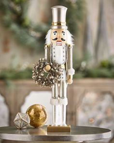 "White+&+Silver+Collection+Nutcracker,+24""+at+Neiman+Marcus."