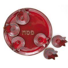 Pomegranate Seder Plate & Matza Plate