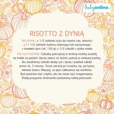 Risotto z dynią dla dziecka Vogue Kids, I Want To Eat, Risotto, Foodies, Things I Want, Recipies, Spices, Cooking, Fit