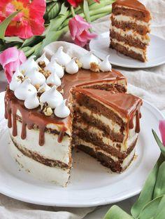 Fahéjas-narancsos-diós répatorta   Ízből tíz Sweets Recipes, No Bake Desserts, Cookie Recipes, Hungarian Cake, No Salt Recipes, Quiche, Eat Dessert First, Sweet Cakes, Sweet Bread