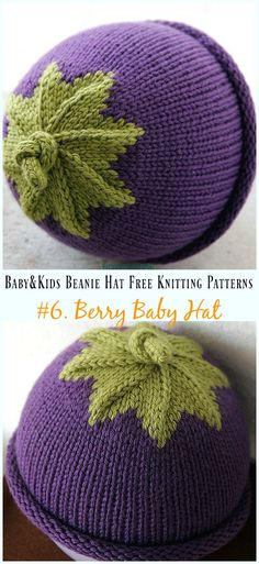 Berry Baby Hat Knitting Free Pattern - Baby & Kids Beanie #Hat; Free #Knitting; Patterns