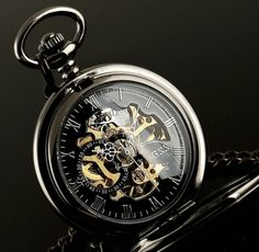 Skeleton Gear Pocket Watch