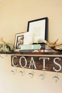 DIY 'coat' rack