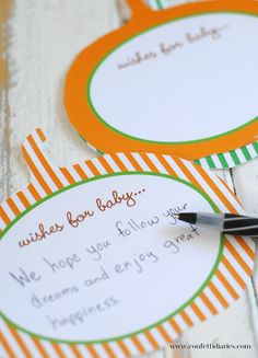 One of my favorite additions to any baby shower are wishes for baby cards. It's such a sweet way to send love to the new little bundle of joy and make a wonderful keepsake for the parents-to-be. Fo...