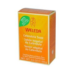 Weleda Baby Calendula Soap - 3.5 oz - Weleda Calendula Soap is a gentle and soothing cleanser for Babys body. It wont strip natural moisture from the skin and it helps to soothe irritations or rashes. Overall a softening soap formulated with Biodynamic Iris root. Ingredients: Sodium Palmate, Sodium Cocoate, Purified Water, Sodium Olivate, Glycerin, Fragrance (Parfum) *, Limonene*, Linalool*, Citronellol*, Geraniol*, Calendula Officinalis Flower Extract, Chamomilla Recutita Matricaria…
