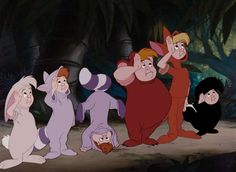 Peter pan The lost boys; Nibs, the twins, cubby, slightly, and tootles 1953
