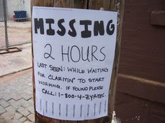 Great missing poster....