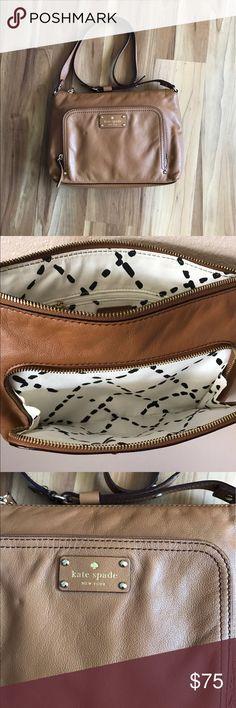 "Kate Spade Baxter Street Hailey tan cross body Never used. 11.5"" l x 8.5"" w x 2.5"" d. Adjustable strap kate spade Bags Crossbody Bags"