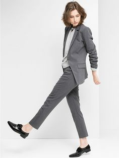 Mango Suit Blazer and Trousers in grey