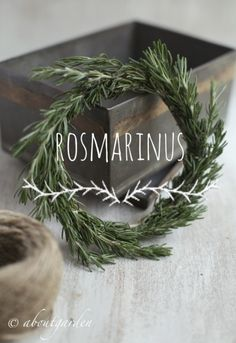 aboutgarden - rosmarinus wreath - Christmas Kitchen Ideas
