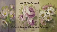 DVD1049 Part 4 Beginning Rose Painting with Heritage Acrylics