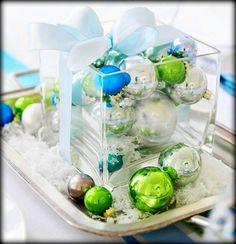 Gorgeous Green & Silver Christmas Table Decor...Quick and easy Christmas decorations  #GermaniDecor #DIY #HomeDecor #ChristmasDecor