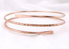 CoPPeR Upper Arm CuFF: Copper Notched Armlet Boho Upper Arm