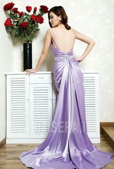 Abito da sera Eleganti/lussi Viola medio Magro Autunno Applique