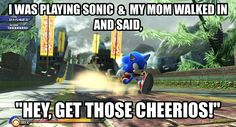 "My Mom LOVED playing the original Sonic the Hedgehog when she was little and I was like ""SWAG """