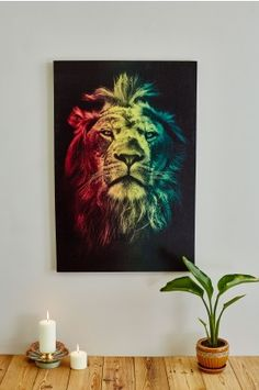 Imported Note that in most cases canvas art will ship separately Rasta Art, Rasta Lion, Bob Marley Painting, Marley And Me, Lion Painting, Lion Of Judah, Lion Art, Lion Tattoo, Flower Of Life
