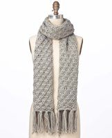 """Fringed Chunky Scarf - Matching style and comfort, this warm, super-soft scarf is a cold weather essential. Fringed ends. 12"""" x 64""""."""