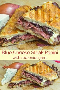 Blue Cheese Steak and Red Onion Jam Panini – Rock Recipes Blue Cheese Steak Panini with Red Onion Jam. A perfect leftover steak recipe or a reason to grill steak just for these exceptionally delicious sandwiches. Rock Recipes, Beef Recipes, Cooking Recipes, Skirt Steak Recipes, Grilled Steak Recipes, Steak Sandwich Recipes, Grilled Sandwich, Pannini Sandwiches, Cheese
