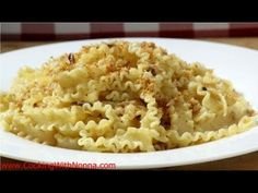 Mafaldine or Lagane of St. Joseph... a must have for St. Joseph's Day. Pasta with Bread Crumbs and Anchovies.