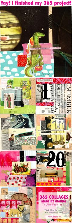 iHanna's 365 Collages Week 52 - last collages of 2018 Collage Making, Film Strip, Photo L, Project 365, Art Journals, Happy New Year, Collages, About Me Blog, It Is Finished