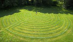 82' diameter labyrinth in the back lawn of Allisonville Christian Church (Disciples of Christ), in Indianapolis, Indiana. It is an 11-circuit labyrinth created in the path layout of the 800 year old Chartres Cathedral labyrinth in France.