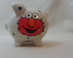 Completely customizable large ceramic piggy bank that can match any theme, room, name, etc. Lady Bug, Piggy Bank, Bugs, Etsy, Piglets, Handmade Gifts, Hand Made, Ladybug, Money Box